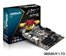 ASRock H77M all solid capacitor 1155 interface HDMI HD H77 DESKTOP motherboard(China (Mainland))