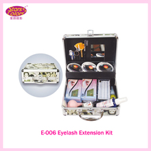 2016 False Double Layer Beauty Grafting Eyelash Extension Kit Full Set with Silver Case for Beauty Salon Makeup Free shipping