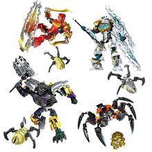 XSZ Star Solider Robot Kopaka Master of ICE Bionicle Building Blocks Bricks Action Figures Anime Construction Toys axidis