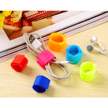 25/50/100Pc Multifunction Random Color Reusable Magic Tape Cord Winder Cable Holder Ties Wrap Wire Band Fastener Home Office Use(China (Mainland))