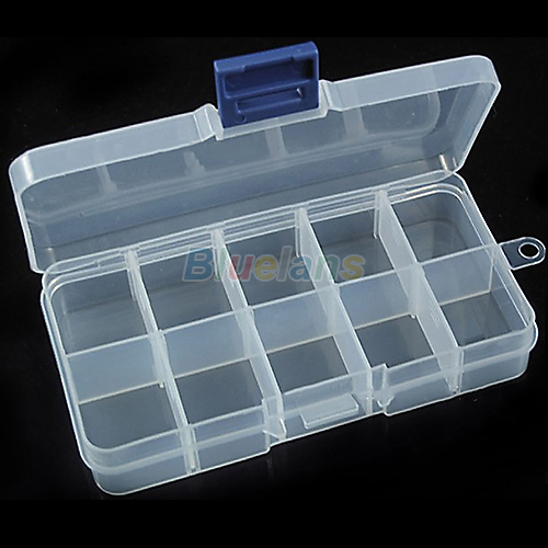 New Storage Case Box 10 Compartment for Nail Art Tips Sundeies Jewelry 0228(China (Mainland))