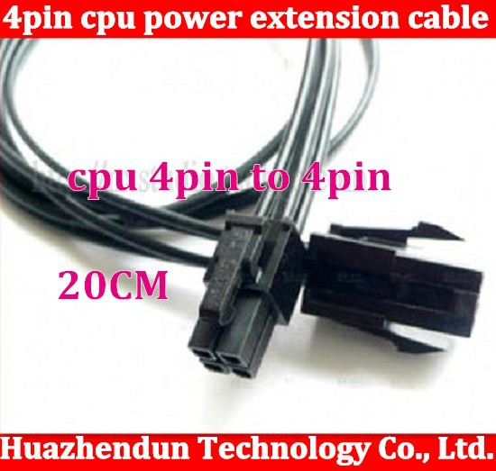 100pcs 4pin to 4pin CPU power extension cable,20CM 4pin extension cord High Quality 4pin power supply cable(China (Mainland))