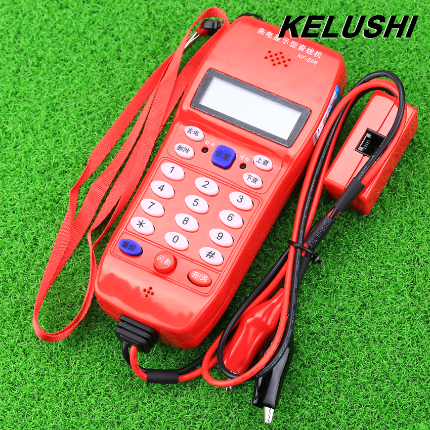 KELUSHI 2016 High Quality NF-866 Phone Telephone Telecommunication fiber optical tool Check Phone DTMF Caller ID Auto Detection(China (Mainland))