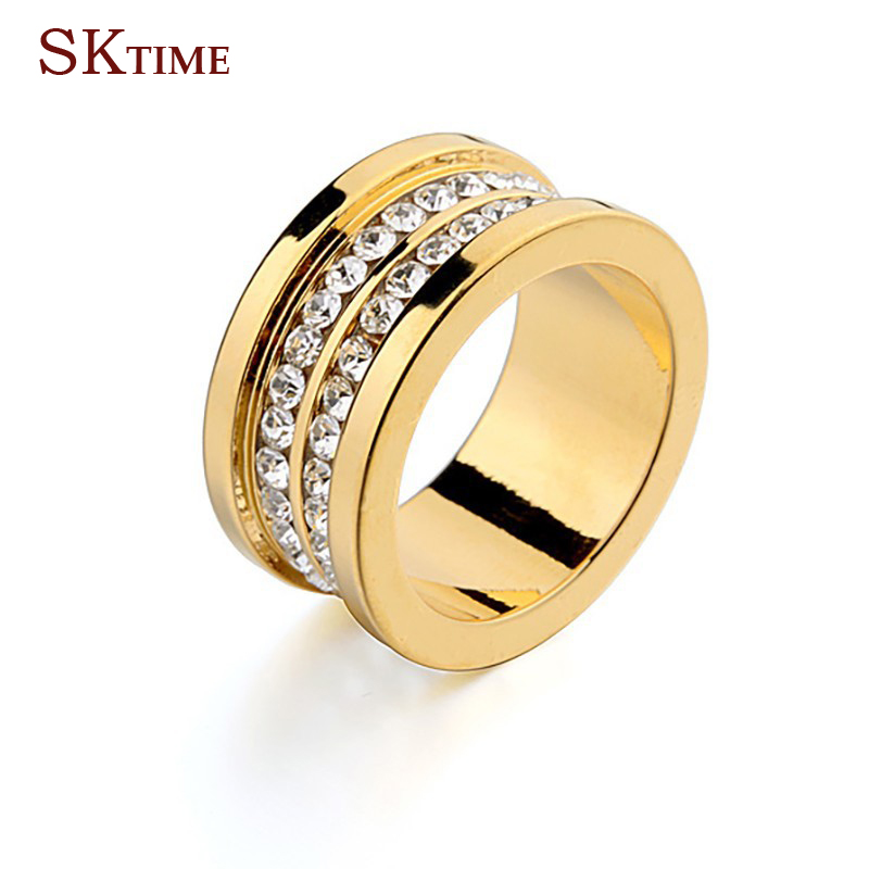 Best Selling BVL Brand Double Row CZ Diamond Stainless Steel Silver Gold Rose Gold Men And Women