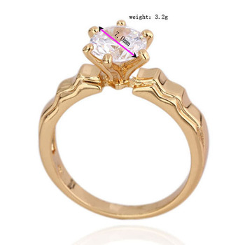 2014 Hot Sale 18 K Gold Plated 6 Claw made with Genuine Austrian Crystals wholesale E-shine Jewelry