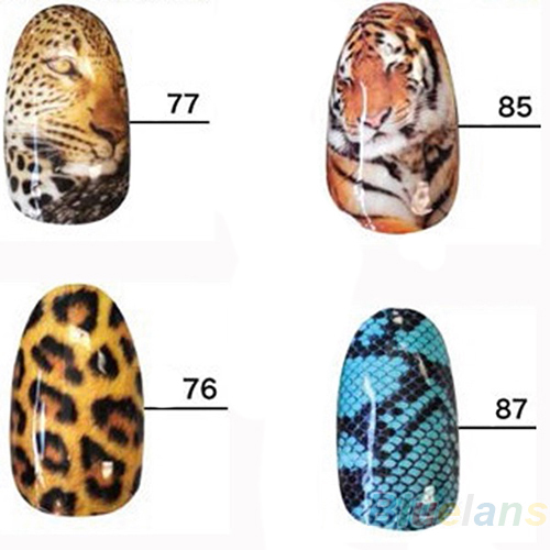 Wild Style Water transfer Nail Full Decal Nail Art Decoration Sticker Tips 02ZV 2NQ1(China (Mainland))