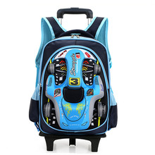 16 in School Bag for Girls with two lighting Wheels Backpack Children Travel Bag Rolling Luggage Schoolbag Mochilas Bagpack(China (Mainland))