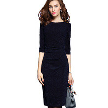 Buy Plus Size Womens Office Dresses Elegant Ladies Work Wear Dress Charming Bodycon Midi Spring Business Casual Dresses Summer for $32.50 in AliExpress store