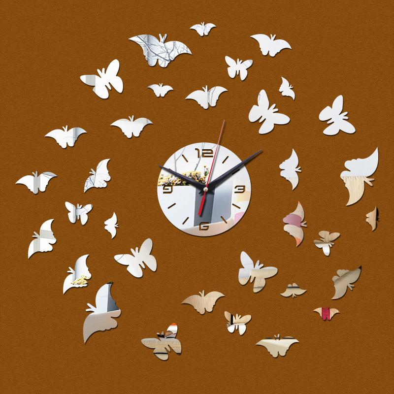 2015 promoção 33 relógio novo acrílico parede espelho design moderno diy relógio de relógios home decor novidade seguro frete grátis