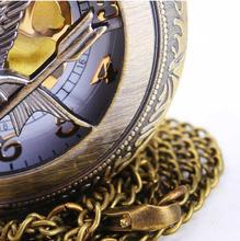 Hot Sale Vintage Antique Unisex Fashion Hollow Out and The Hunger Game cover Quartz Pocket Watch