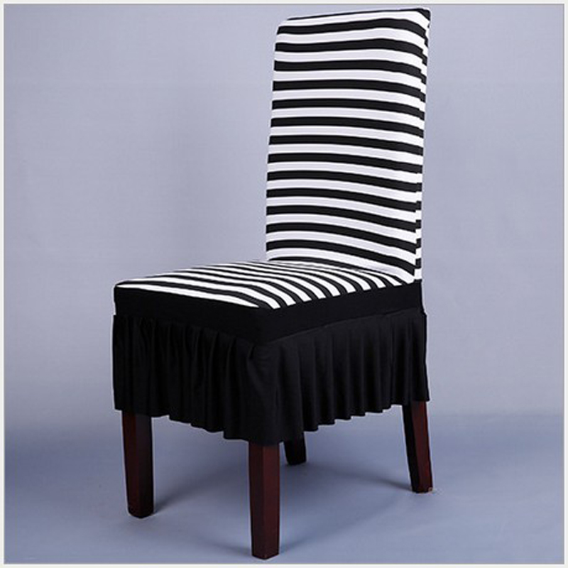 1PCS stripes Spandex Stretch Dining Chair Cover Restaurant For Weddings Banquet Folding Hotel Chair Covering CCB004(China (Mainland))