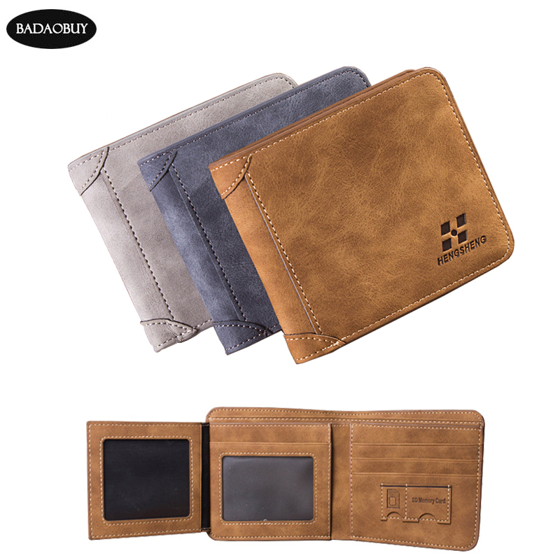 New Arrival Mens Short Wallets 2016 Male Famous Brand Men Genuine PU Leather Wallet Purses Multifunctional Billfold Card Holders(China (Mainland))