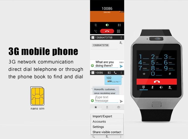 ถูก Qw09บลูทูธ4.0 smart watch 1.54นิ้วdual core 512เมกะไบต์ram 4กิกะไบต์รอมกีฬานาฬิกาข้อมือ