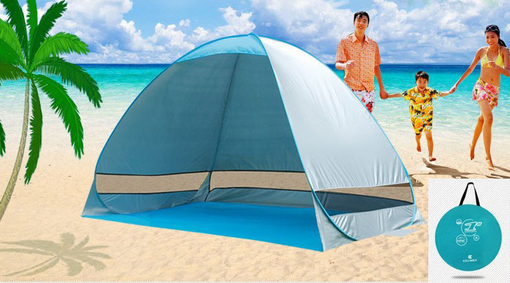 Freeshipping UV Protection Quick Automatic Opening Beach Tent Protable Ultraviolet-proof summer beach tent(China (Mainland))