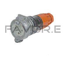 *20A three phase 4 round pin female plug industrial lead connector 56CSC420