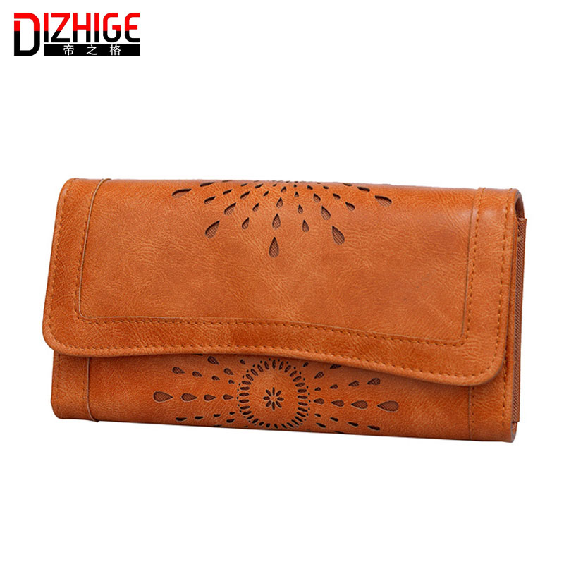 Fashion Vintage Women Ladies Oil Purse medium-long Slim Zipper Wallets Dollar Price Leather Purse female Pouch Bolsas Carteira(China (Mainland))