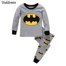 Buy Long Sleeve Kids Pajamas Sets Baby Clothing set Boys pijama batman pyjamas 100% Cotton Design Sleepwear Retail for $7.43 in AliExpress store