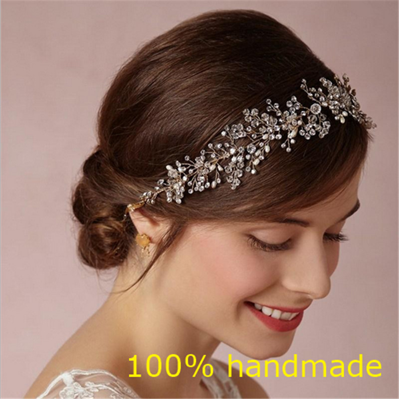 Gorgeous Crystal Bridal Headband Wedding Rhinestone Headbands Hair Accessories Bridal tiaras Bride Ribbon Headbands RE597(China (Mainland))