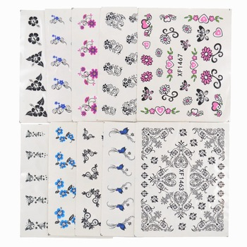 YZWLE 50 Sheets Mixed Styles DIY Decals Nails Art Water Transfer Printing Stickers For Nails Salon