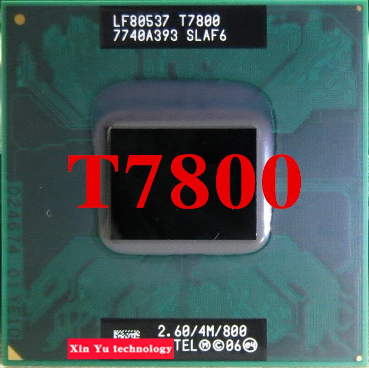 Lifetime warranty Core 2 Duo T7800 2.6GHz 4M 800 Dual Notebook processors Laptop CPU Socket PGA 478 pin Computer Original<br><br>Aliexpress