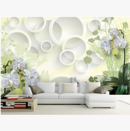 3d carta da parati tridimensionale fiori sfondo tv carta for Carta da parati 3d fiori