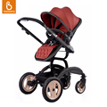 PHSUN Deluxe Baby Stroller Folding High landscape Pram Newborn Infant Pushchair