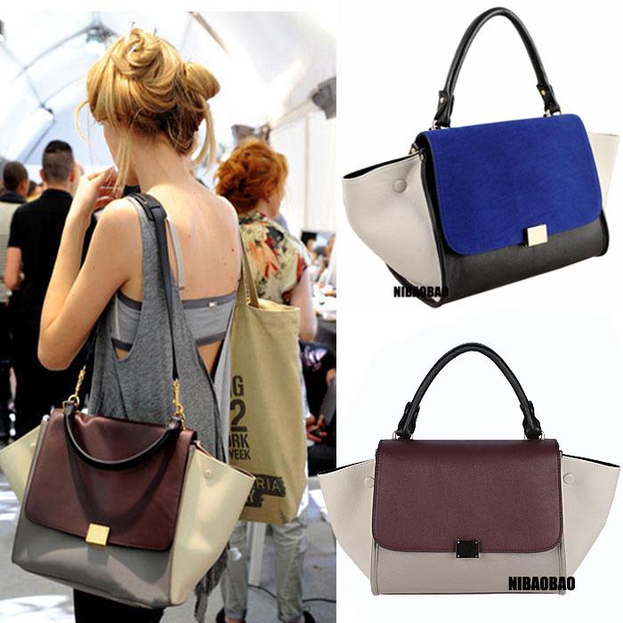 Fashion trapeze high quality big ears bag smiley bag swing bag one shoulder women's handbag(China (Mainland))