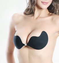 women summer style silicone strapless push up bra sexy bralette self adhesive front closure strapless bra