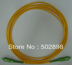 1pc Fiber Optic Patch cord cable Singlemode 9/125 SC/APC-SC/APC SC-SC APC Patchcord Simplex 3mm 10M Free Shipping(China (Mainland))