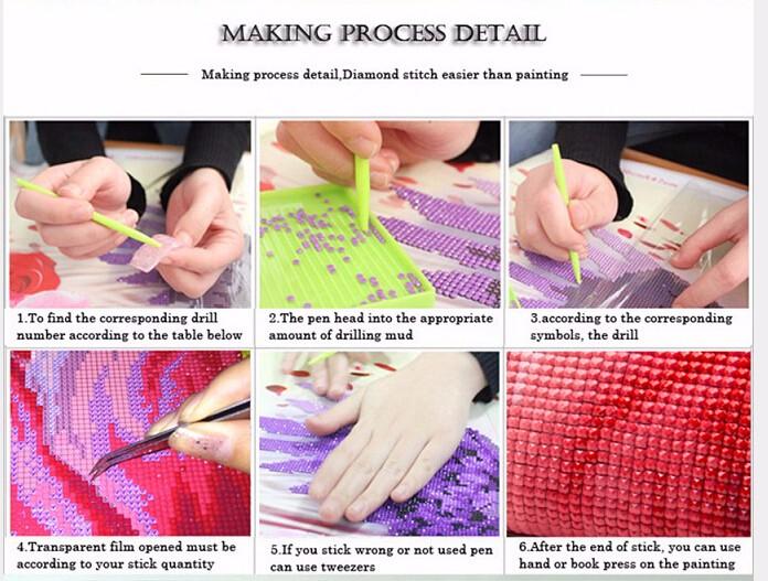 3d Diy Diamond Painting Crystal Animal Needlework Embroidery Wolves
