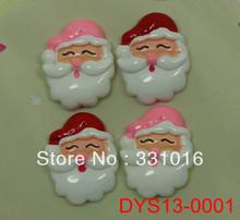STOCK! 30pcs Santa Claus Resin Cabochon Flatbacks For Hair Phone Home Decoration Making Craft DIY 2 Colors Mixed(China (Mainland))