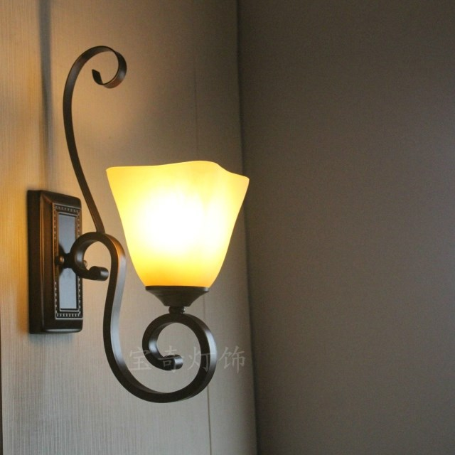 Led Indoor Wall Lamps : Aliexpress.com : Buy Indoor LED Wall Lamps Beside Bedroom Wall Lamps American Rustic Wrought ...