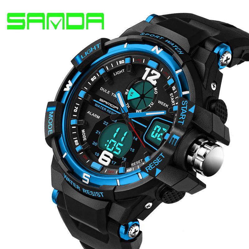 SANDA Fashion Watch Men G Style Waterproof LED Sports Military Watches Shock Men's Analog Quartz Digital Watch relogio masculino(China (Mainland))