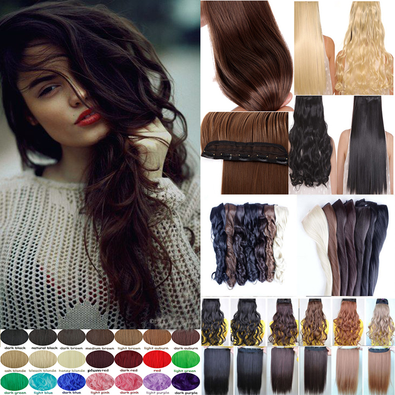 Stylish Synthetic Hair Clip In Hair Extensions Natural Hair Curly