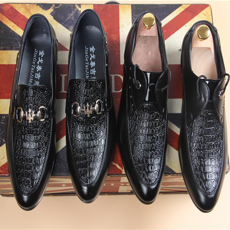 2015 Fashion Men Loafers Dress Shoes Mens Flats Slippers Slip-On Black Plain Casual - shoe store