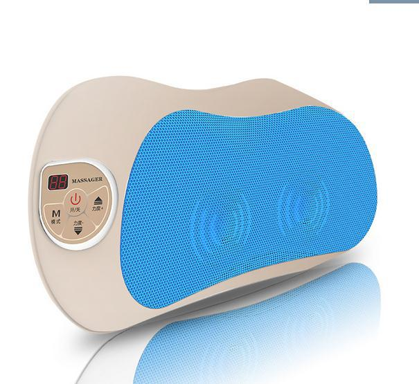 Cervical neck shoulder waist back massager instrument multifunctional massage pillow body cushion for leaning on(China (Mainland))
