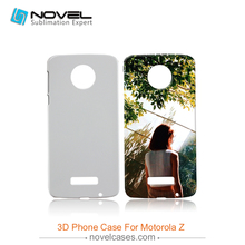 Free Shipping Sublimation printing diy phone case for Motorola Z,3D Plastic Phone Cover(China (Mainland))