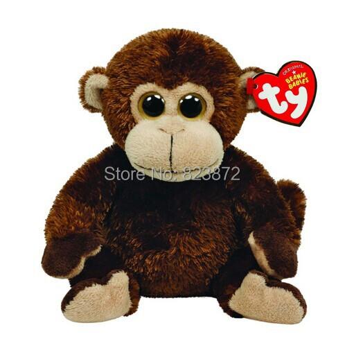 Ty Beanie Babies Vines Monkey Plush Toys 15cm TY Plush Animals Big Eyes Soft Toys for Kids Brinquedos Children Toys(China (Mainland))
