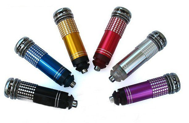 2012 new high-quality metal car air purifier anion oxygen bar