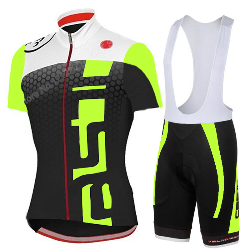 2015 Fluorescence Cycling Jerseys Ropa Ciclismo/Breathable Bicycle Clothing/Quick-Dry GEL Pad Mountain Bike Jerseys Shorts Pants(China (Mainland))