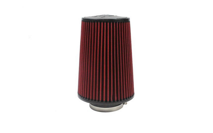 Universal Car Red Color Air Filter 75mm Inner Diameter New Cold Air Intake Filter(China (Mainland))