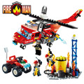 GUDI Fire Fighting Series Building Blocks Truck Compatible with Legoe Education Enlighten DIY Toys Gift for