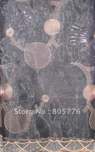 African french lace,Net/organza lace,Lace with sequins,smk-081,free shipping