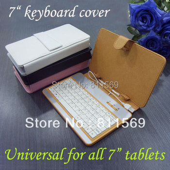 "Free shipping 7"" plastic keyboard case universal for all 7"" tablet PC"