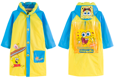 2015 Cartoon Rain Coat Children Waterproof Unisex Rainwear Kids Rainsuit Free Shipping(China (Mainland))