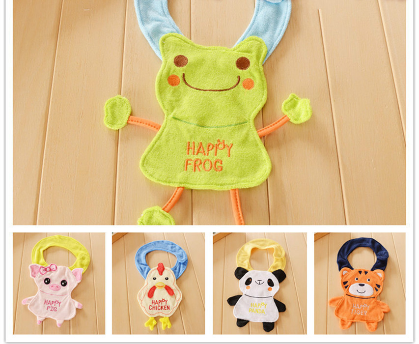 2016 Happy Burp Cloth Animal Baby Bibs Bandana Terry Cloth Waterproof Cartoon Bib for Baby Boys Girls Newborn Baby Towel baberos(China (Mainland))