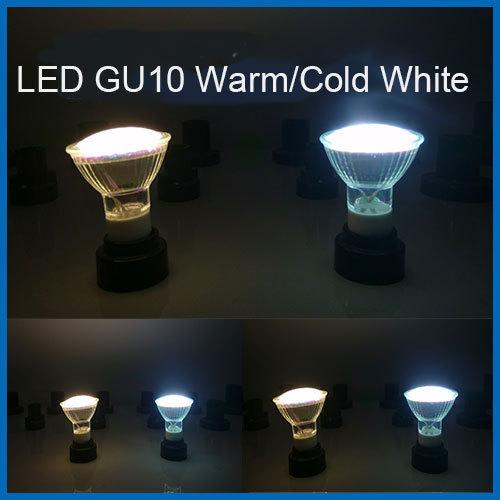 LED bulb/light/lamp GU10 JCDR light spot SMD3528 4.5W energy saving bulb warm/cold white 180 degree(China (Mainland))