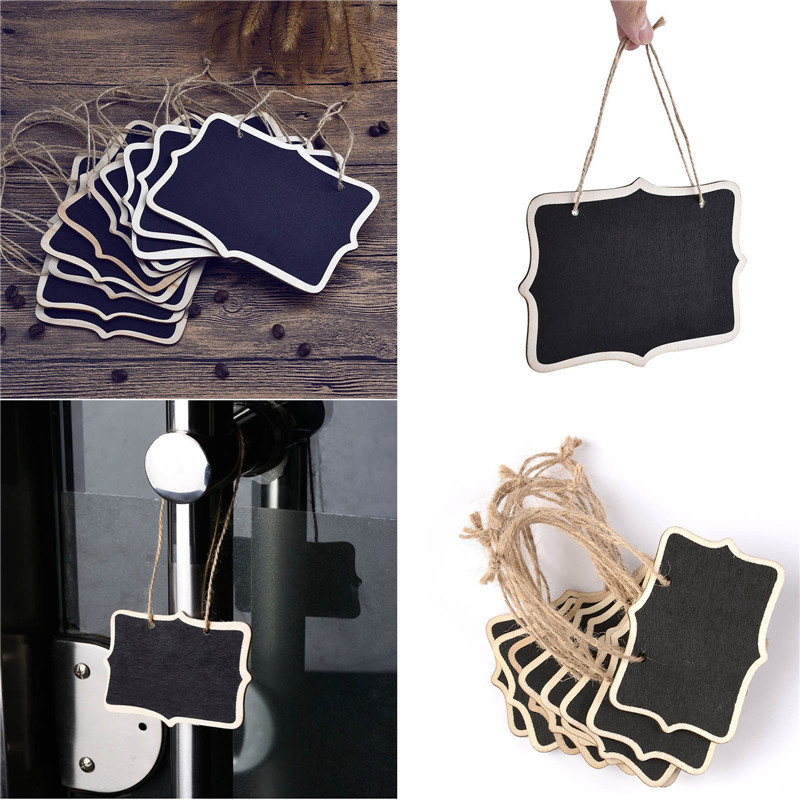 10Pcs Mini Wooden Chalkboard Blackboard Hanging Message Table Number Wedding Birthday Party Decor WB279 P50(China (Mainland))