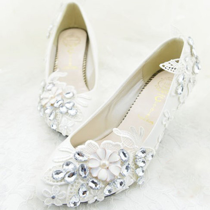 Free Shipping Cheap Wedding Bridal Shoes Bridesmaid Shoes Flat Heel Shoes For Flower Girl