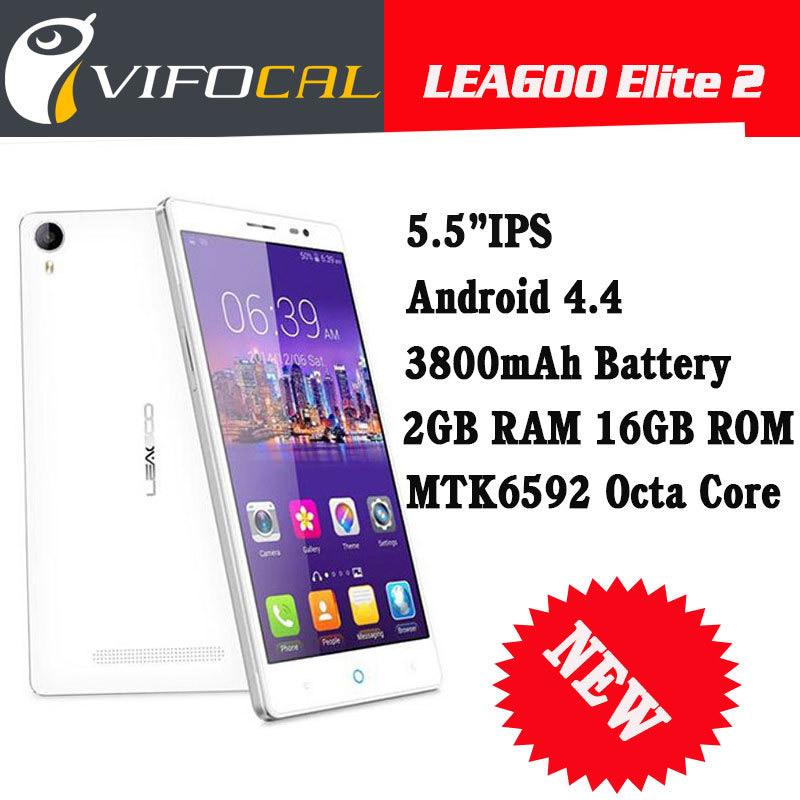 "New Original Leagoo Elite 2 5.5"" IPS HD MTK6592 Octa Core Android 4.4 3G Cell Mobile Phones 2GB RAM 16GB ROM 13MP 3200mAh Phone(China (Mainland))"